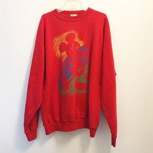 Vintage Mickey Mouse Graphic Crewneck Sweatshirt